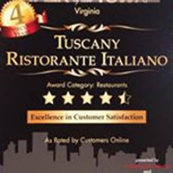 $50.00 Tuscany Ristorante voucher for $25.00